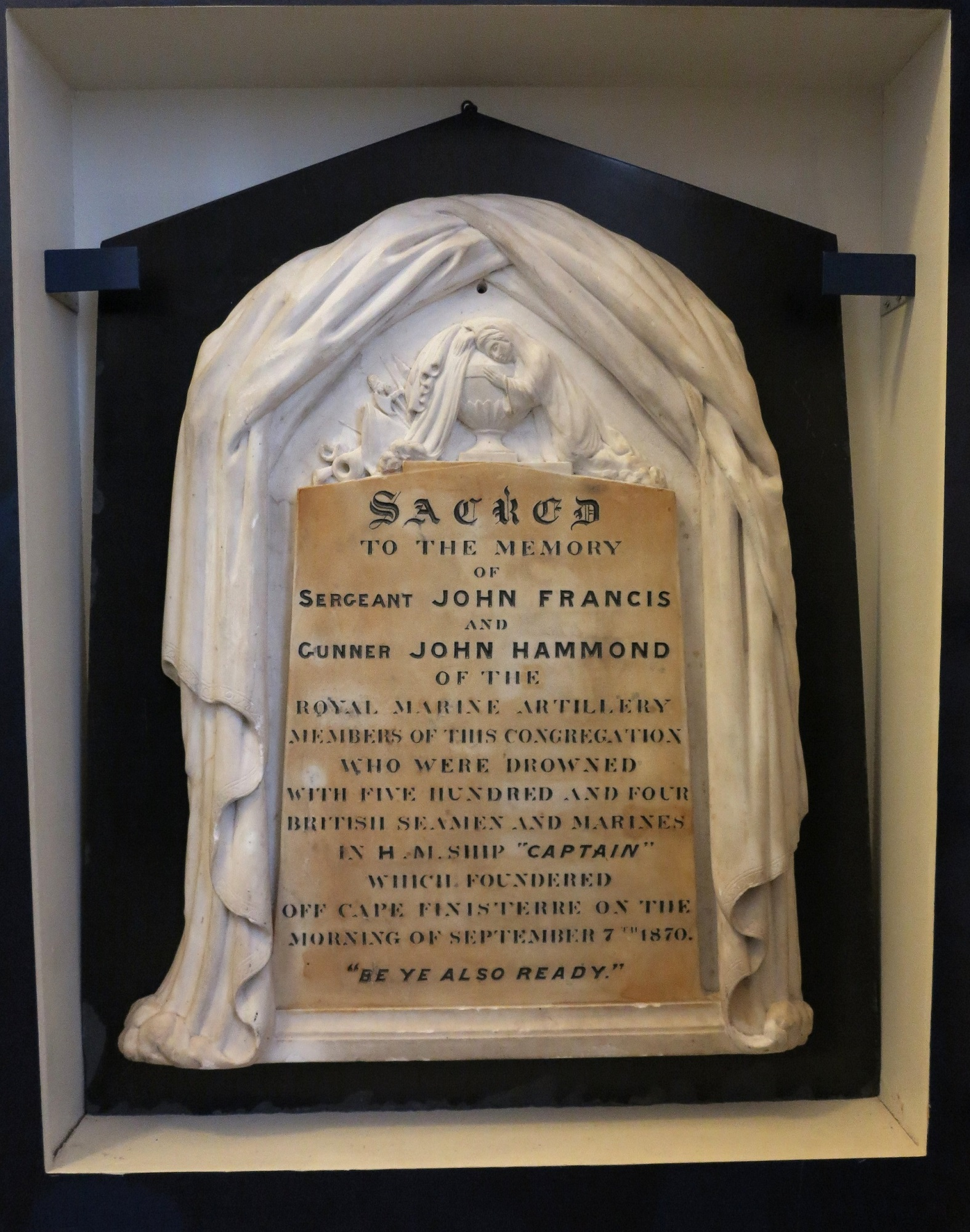 Memorial plaque to Sergeant John Francis and Gunner John Hammond