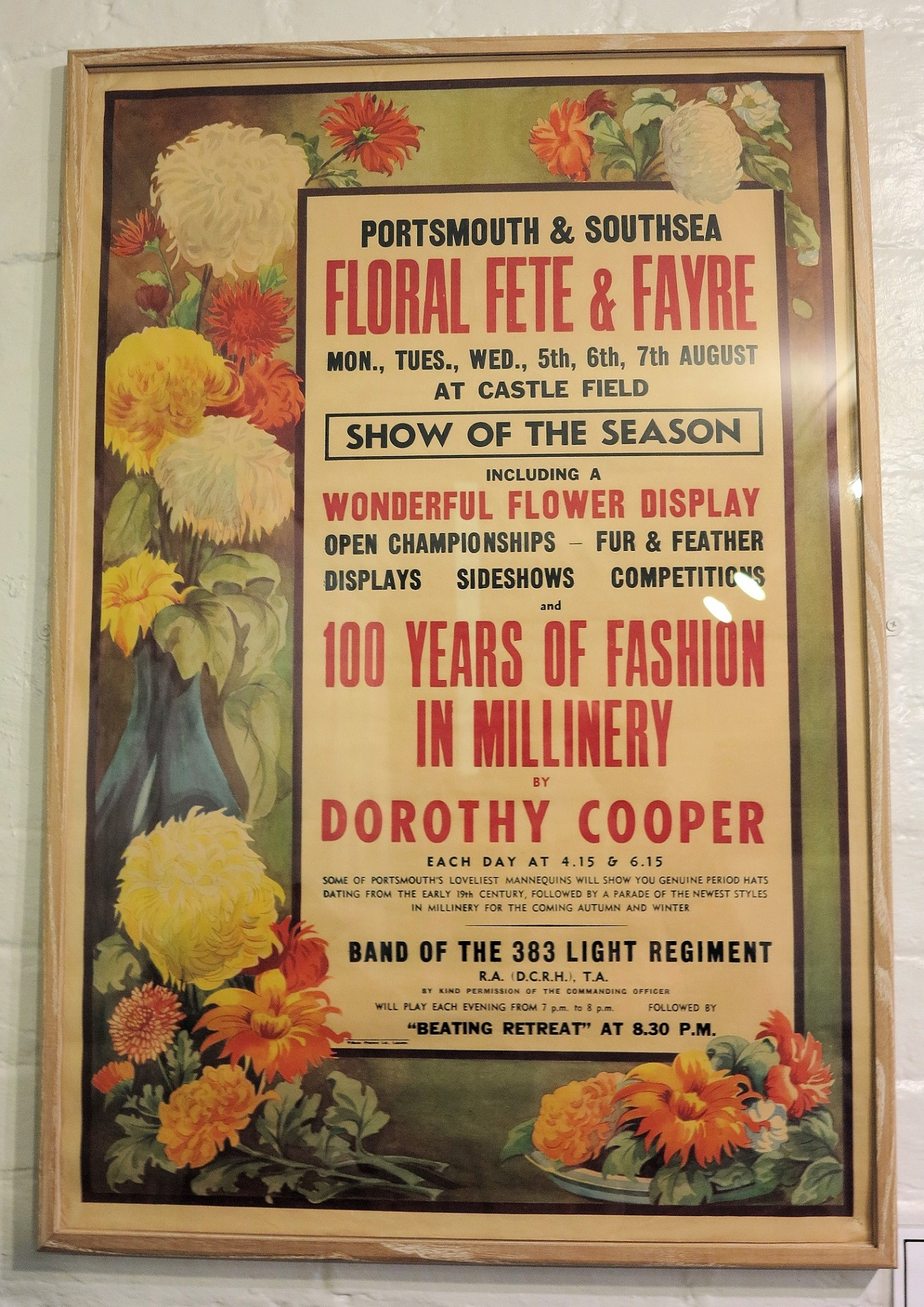 Flower Fete and Fayre poster