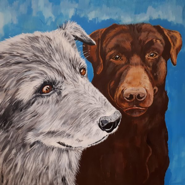 Gracie and Mia by Lorraine Tozer