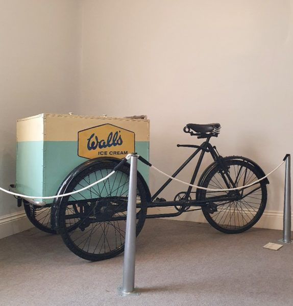 Image of the Walls bike in situ at the museum