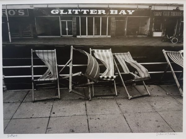 Deckchairs opposite Southsea Parade Pier photograph by Garrick Palmer. Copyright the artist. Portsmouth Museums Service