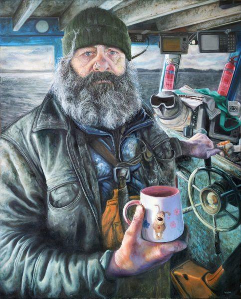 Moses oil on canvas by Karl Rudziak. Copyright the artist. On loan from Karl Rudziak