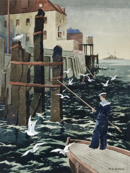 Point, Portsmouth watercolour by Alick D Summers. Portsmouth Museum Service