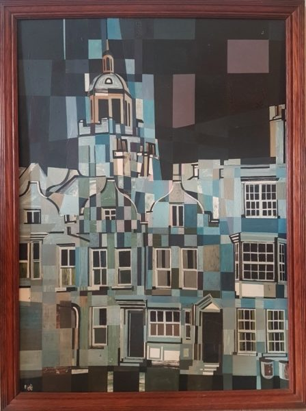 Portsmouth Cathedral oil on canvas by James Arnold Martin. Copyright the artist's estate. On loan from a Private Collection