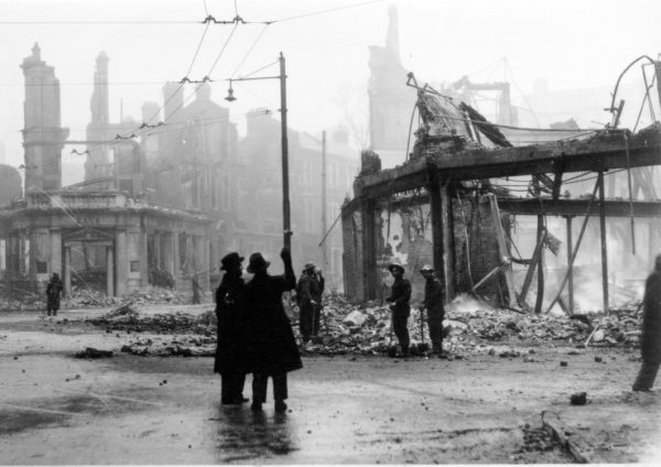 Palmerston Road, Southsea, after the raid of 10 Jan 1941