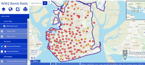 Portsmouth Bomb Map